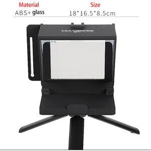 Image 4 - Taşınabilir Mini Teleprompter için telefon DSLR kayıt canlı yayın mobil Teleprompter artefakt Video uzaktan kumanda ile VS T1