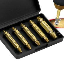 5 sztuk 1 box urządzenie do usuwania śrub uszkodzony zestaw wkrętaków zepsuty śruba urządzenie do usuwania śrub śruba Deburrer tanie tanio TONGFENGLH Obróbka metali TFL0256