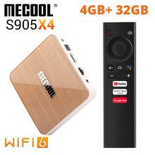 4GB 32GB Wifi 6 Mecool KM6 Amlogic S905X4 TV Box 4K Android 10 BT5.0 Google Prime Video Netflix 1000M S905X3 caja inteligente TVBOX