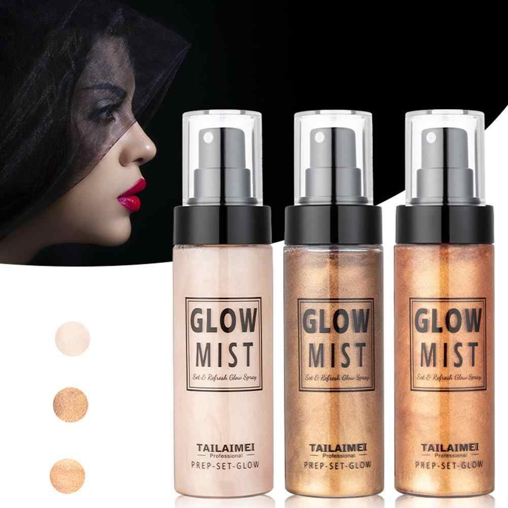 Shimmer Tubuh Stabilo Luminizer Bronzer Highlighter Cair Setting Spray Mencerahkan Sorot Makeup Highlighter