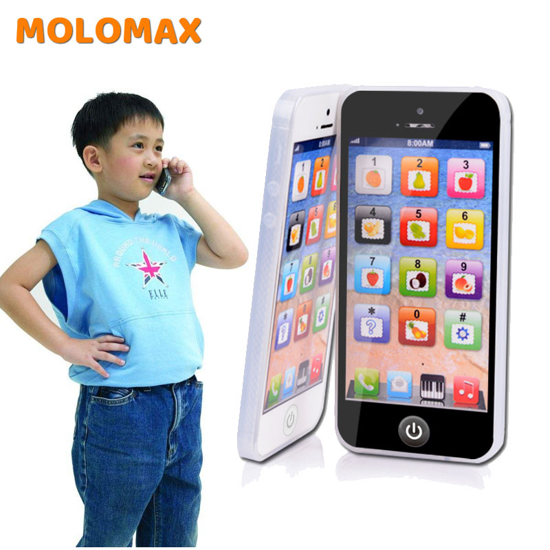 Boy Girl Mathematics Educational Toys Cellphone With LED Baby Kid English Learning Mobile Phone Toy Chrismtas Gifts For Children