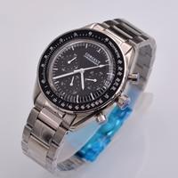 Corgeut Neue Luxus Quarz herren Uhr Chronograph Funktion 40mm Poliert Fall
