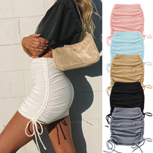 Pleated-Skirt Spring Adjustable Girls Mini Summer Club for Elastic Knitted Skinny Slim