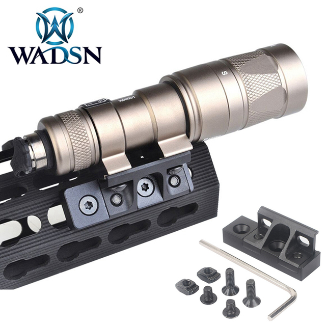 WADSN тактический флэш светильник Mlok Keymod светильник с креплением для Surfire M300/M600/M300V/M600V/M600B Softair скаутские огни светильник s