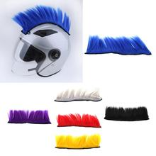 DIY Helmet Mohawk Hair Punk Hair Colorful Cockscomb Modeling Wig For Motorcycle