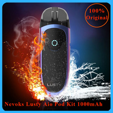 цена на Newest Nevoks Lusty Aio Pod Kit 1000mah battery &3.3ml pod tank Electronic Cigarette pod kit best flavor Vaporizer vape Pod Kit