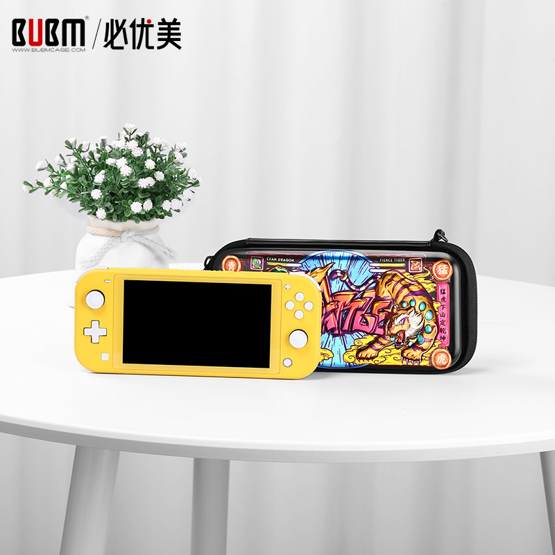 BUBM Hard Shell Case For SWITCH Camouflage Game Console Bag Portable Travel Carrying Storage Bag With Game Cards Slot Position