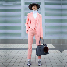 NEW Pink 3 piece set womens business suits ladies office