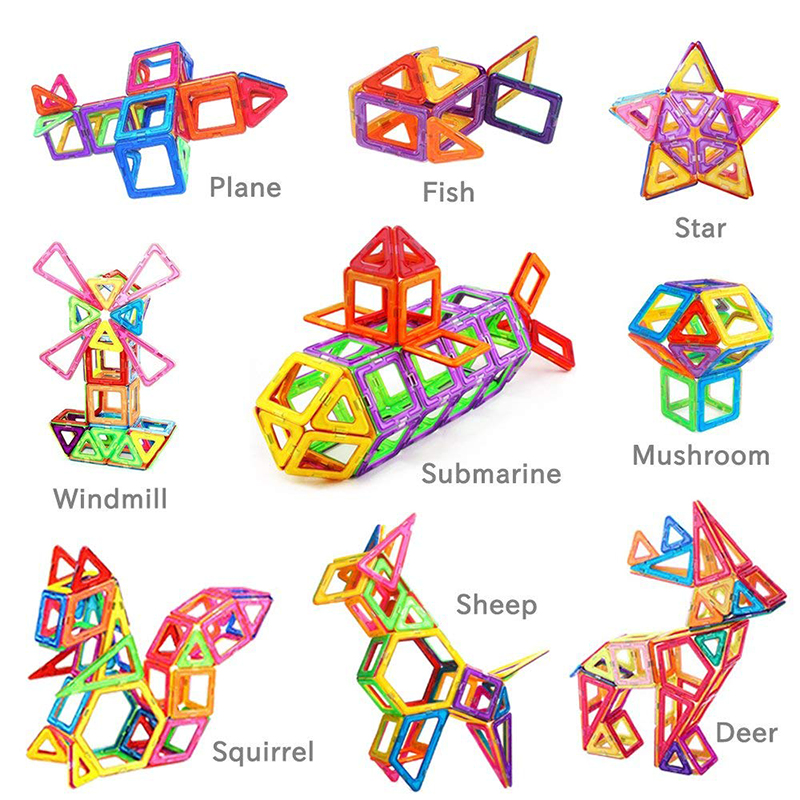 109 шт. большой размер магнитные дизайнерские блоки пластиковые строительные и строительные игрушки набор магнитных плиток Развивающие игрушки для детей