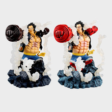 19cm Jpanese Anime One Piece luffy PVC Action Figure toys SC modeling red black Arm luffy Collectible Model Toys kid gift