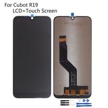 цена на For Cubot R19 LCD Display Screen Touch Glass Sensor Digitizer Assembly Black Color With Tape Tools For Cubot R19 LCD Display