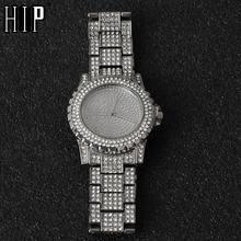 Часы наручные мужские кварцевые роскошные в стиле хип хоп с