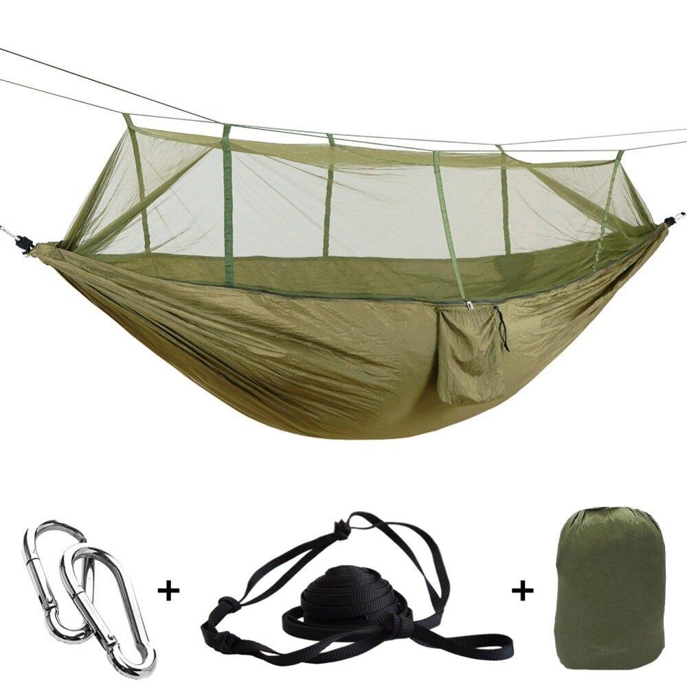 1-2 человека Открытый Москитная сетка парашют гамак кемпинг подвесной спальный кровать качели портативный двойной стул Hamac армейский