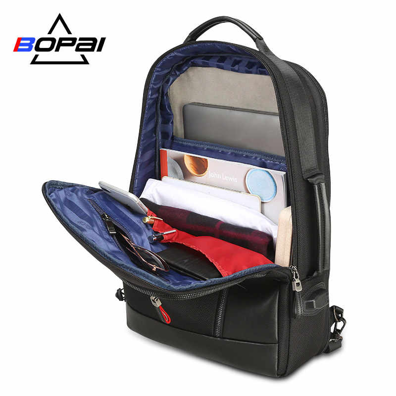 BOPAI Anti diefstal Vergroten Rugzak USB Externe Lading 15.6 Inch Laptop Rugzak Mannen Waterdichte School Rugzak zakken voor Tiener