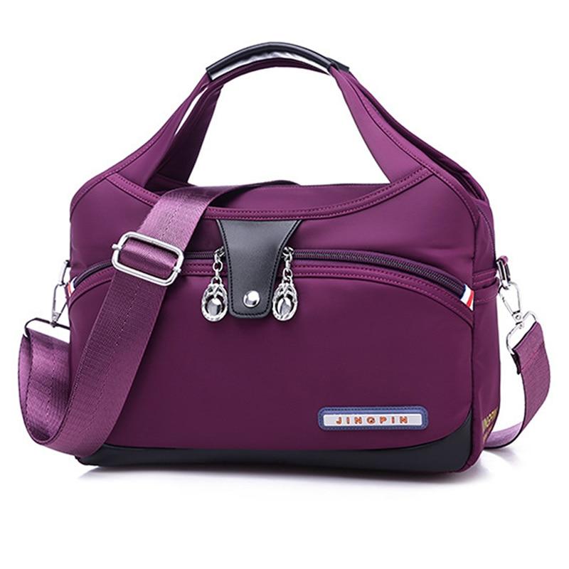 Summer New Fashion Casual Pure Single Shoulder Bag Large Capacity Canvas Bag Lady's Slanting Bag