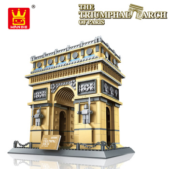 The Triumphal Arch of Paris Building Blocks Model World's Great Architecture Series Famous Building Model Blocks City Brick Toys