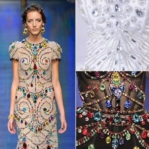 Image 5 - YANRUO 1201 Rivoli 27mm cristal Vitrail medio piedras para coser diamante redondo punto atrás diamantes DIY manualidades para ropa