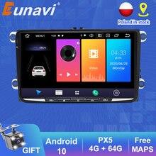 Eunavi 2 Din Android 10 DSP วิทยุเครื่องเล่นวิทยุ GPS สำหรับ Skoda/ที่นั่ง/Volkswagen/VW/Passat b7/POLO/กอล์ฟ5 6 Auto เครื่องเล่นมัลติมีเดีย BT