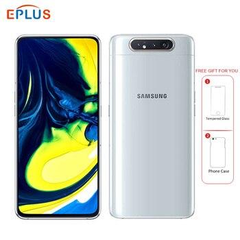 Перейти на Алиэкспресс и купить Новый samsung Galaxy A80 A8050 4G LTE мобильный телефон 6,7 дюйм8 ГБ ОЗУ 128 Гб ПЗУ Snapdragon 730 Android 3700 мАч NFC две sim-карты