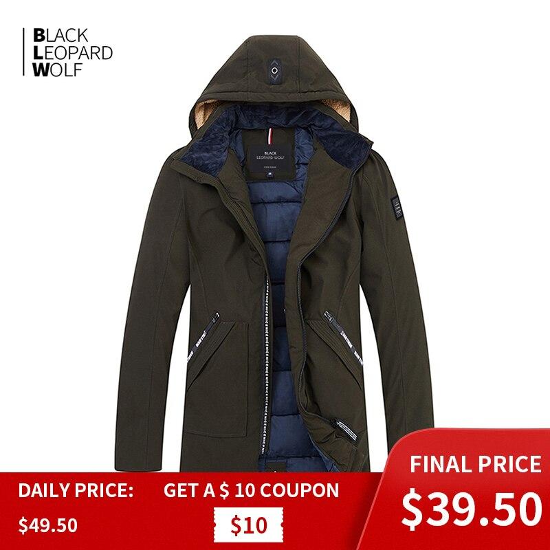 Blackleopardwolf 2019 New Arrival Winter Jacket Men Thick Cotton Quality Casual Parkas Clothing Outerwear Down Jacket Men B356