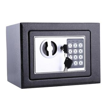 6.4L Security Lock Digital Safe Storage Box To Guard Money Cash Coins Jewelry Key Cash