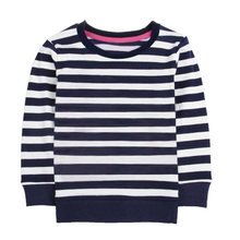 Детская Милая футболка в полоску топы детская блузка с принтом