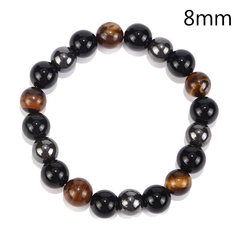 8mm / 10mm Tiger Eye & Hematite & Black Obsidian Stone Bead Bracelet Men Bracelet Jewelry Gift