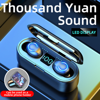 цена на Mini TWS Bluetooth V5.0 Earphones Wireless Headphones Earphones 9D Hifi Sports Waterproof Wireless Earphone Headset Earbuds