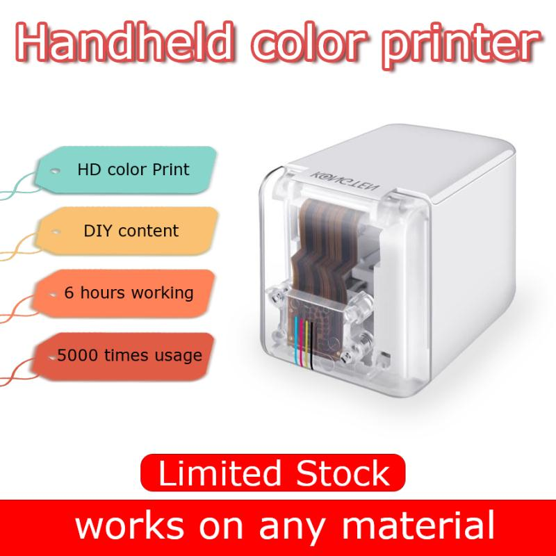 Handheld Mobile Printer Paperless Multi-surface Tattoo Photo Logo Pattern Bar Code Mbrush Portable MINI Color Printer