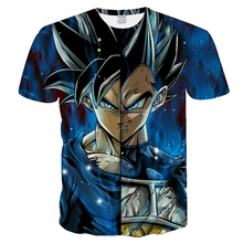 Fashion and cool 3D printed Dragon Ball short-sleeved T-shirt Hot style Hip Hop tops summer new