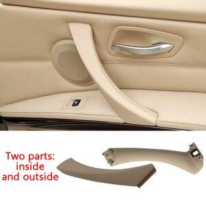 Image 5 - Puxador interno automotivo para BMW, maçaneta interna do painel da porta direita do carro, cinza, bege, preto para modelos série 3 E90 E91 316 318 320 325 325 328