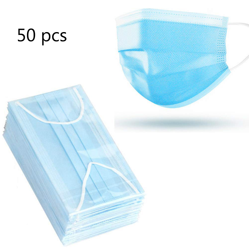 40/20 Pcs Antivirus Disposable Mask Dust-proof Virus Nonwove 3 Layer Ply Filter Mouth Face Mask Dust Meltblown Mouth Masks