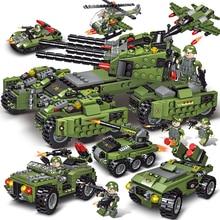 2020 710PCS Tank Building Blocks Vehicle Aircraft Boy Toys Figures Edu