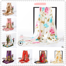 2020 New Artificial Silk Scarf Elegant Oversized Warm Printing Women 's Multi-Function Beach Professional