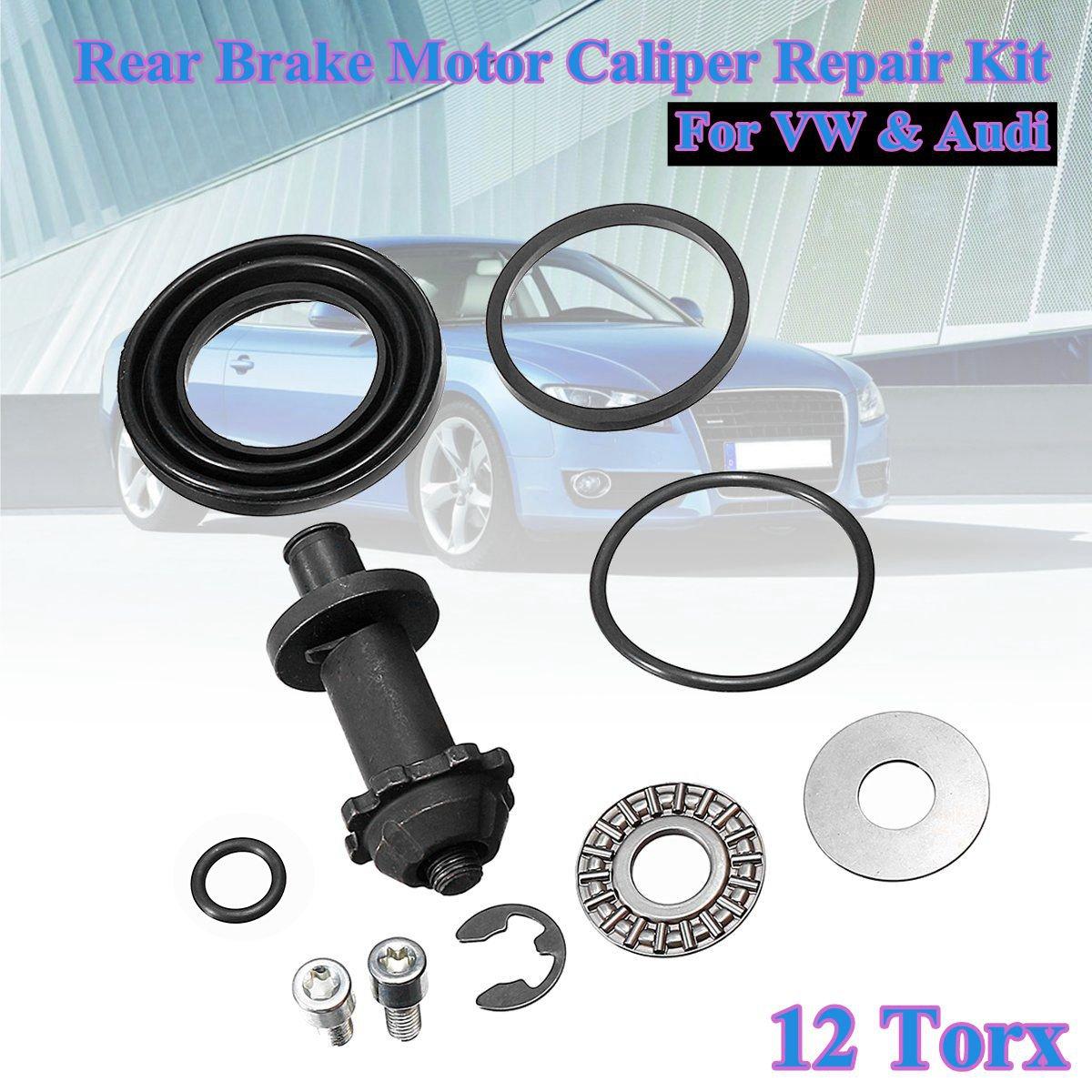 1 Набор 6/12 Torx зубьев заднего ручного тормоза двигателя суппорта Ремонтный комплект для VW для Passat B6 B7 CC Tiguan Q3 A4 S4 A5 S5 A6 32326315