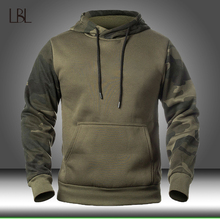 Autumn Men's Military Camouflage Fleece Hoodies Army Tactical  Male Winter Camo Hip Hop Pullover Hoody Sweatshirt Loose Clothing