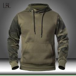 Outono militar dos homens camuflagem velo hoodies exército tático masculino inverno camo hip hop pulôver moletom com capuz roupas soltas