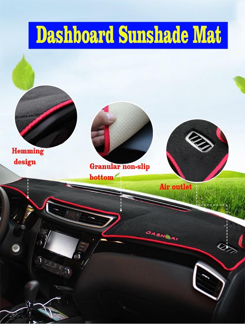 Car Dashboard Cover Non slip Dash Mat Cover For Nissan Qashqai 2014-2019