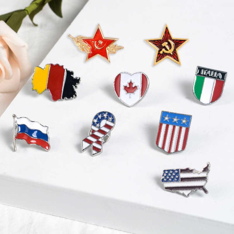 Del fumetto bandiera Nazionale serie Smalto Spilli Moda Spille Distintivi e Simboli Bag Abbigliamento Accessori Risvolto Spilli Gioielli Regali Per Gli Amici