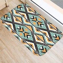 פסים גיאומטרי החלקה חדר שינה דקורטיבי שטיח מטבח רצפת סלון רצפת החלקה מחצלת דלת מחצלת 40x60cm.