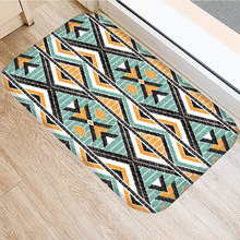 Gestreiften Geometrische Non slip Schlafzimmer Dekorative Teppich Küche Boden Wohnzimmer Boden Matte Bad Nicht slip Matte Tür matte 40x60cm.