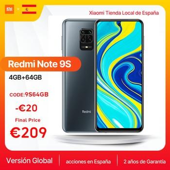 $ US $246.66 Global Version Xiaomi Redmi Note 9S 4GB 64GB Smartphone Note 9 S Qualcomm Snapdragon 720G 6.67'' FHD DotDisplay 5020mAh 48MP AI