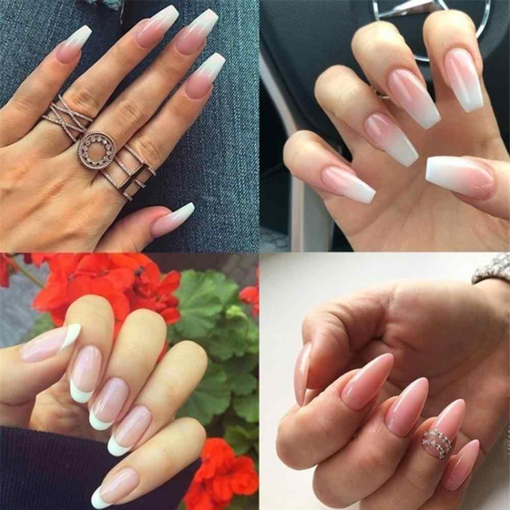 30g Poly Gel ongle acrylique Extension blanc clair UV LED constructeur Gel longue durée ongles en cristal forme collante perceuse outil d'art des ongles C