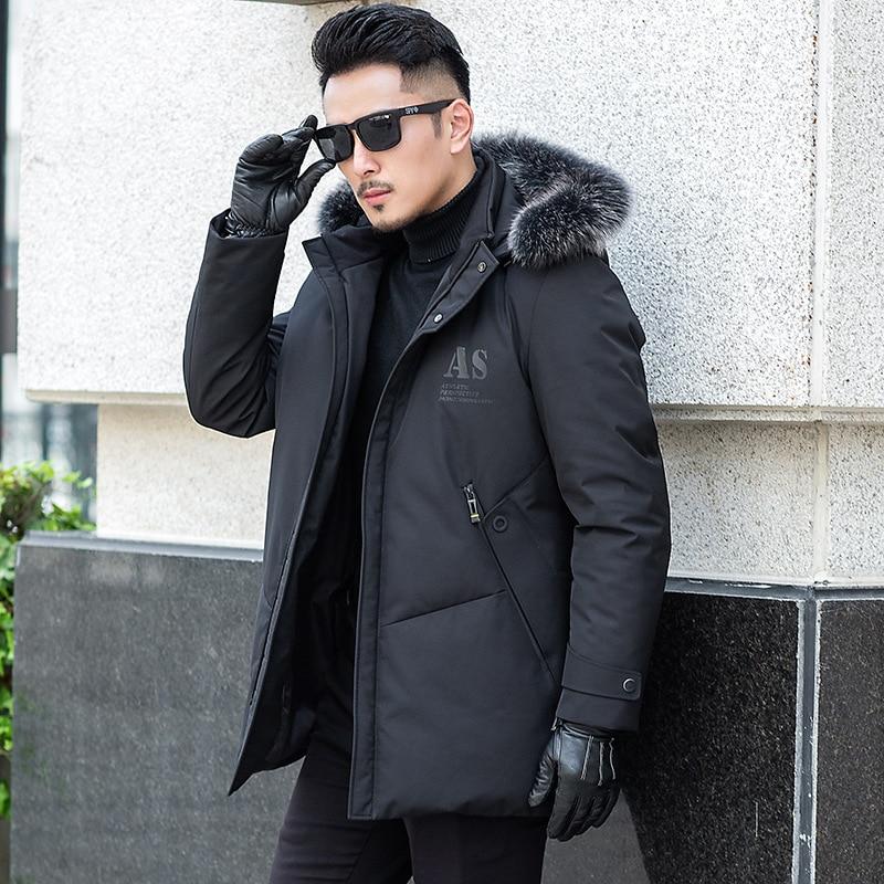 Duck Down Coat Winter Coat Men Fox Fur Collar Puffer Jacket Men Korean Warm Parka Doudoune Homme 5003 YY1310