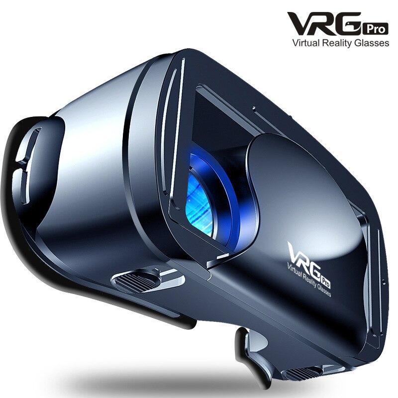 Vidros de vr do grande-ângulo visual da realidade virtual dos vidros do vrg pro 3d para dispositivos do smartphone de 5 a 7 polegadas