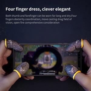 Image 4 - قفازات واقية لعرق الألعاب ، أكمام الأصابع ، للهاتف ، ألعاب PUBG وغيرها من شاشة اللمس الاحترافية