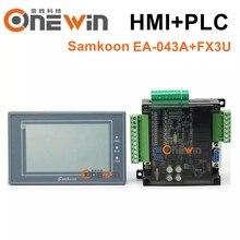 Tela táctil de samkoon EA-043A hmi 4.3 polegadas e placa de controle industrial do plc da série fx3u