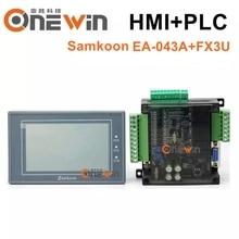 samkoon EA-043A HMI touch screen 4.3 inch and FX3U series PLC industrial control board