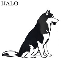 Cão reflexivo carro adesivos husky cão carro animal de estimação cão personalidade adesivos decorativos preto/whtie