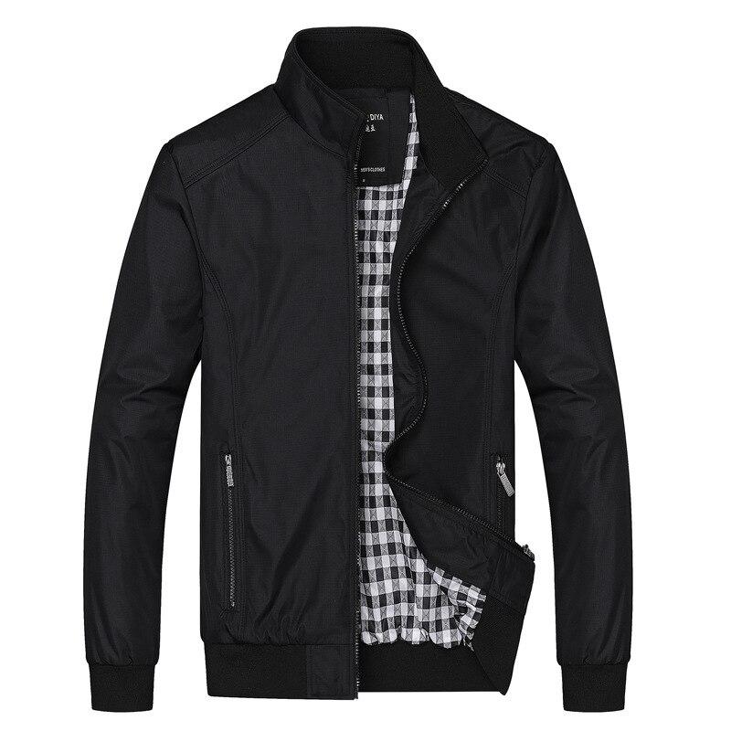 Brand Clothes Bomber Jackets Men Solid Casual Jacket Male 2020 Spring Autumn Men's Jackets Outwear Zipper Coats Plus Size M-8XL